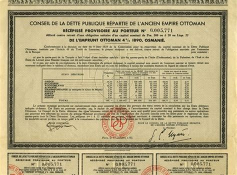 Titre Ottoman by Groupement National De D 233 Fense Des Porteurs De Titres Anciens