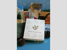 Craft idea! Learn how to make a box out of used Christmas