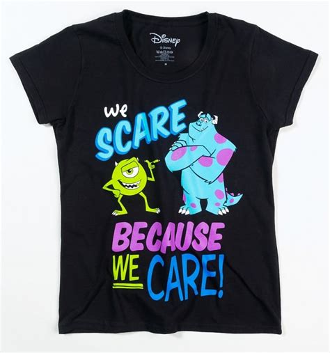 s disney black we scare because we care monsters inc