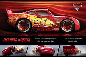Cars 3 - Lightning McQueen Stats Poster | Sold at Europosters