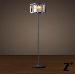 Table lamp 10 new rhys clear glass prism table lamp for Designer glass floor lamp