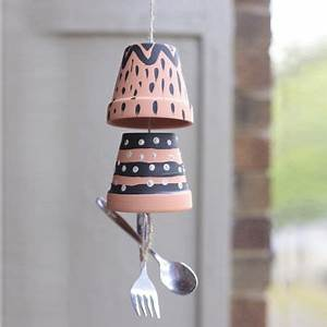 Fabriquer Un Carillon : how to make flowerpot wind chimes de la semence l assiette r coltez le vent comment ~ Melissatoandfro.com Idées de Décoration