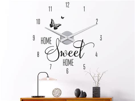 Wandtattoo Uhr Kinderzimmer by Wandtattoo Uhr Home Sweet Home Klebeheld 174 De