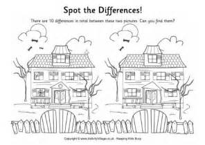 find the differences haunted house