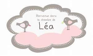 Déco Prénom Bébé : sticker pr nom nuage rose pour b b fille ~ Teatrodelosmanantiales.com Idées de Décoration