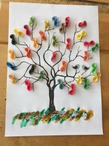baum mit nudeln spring crafts  kids crafts tree crafts