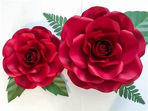 Paper Flowers Pdf Combo Of Large And Medium Rose Paper