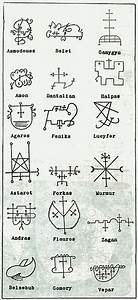 Ancient Demonic Symbols Tattoo