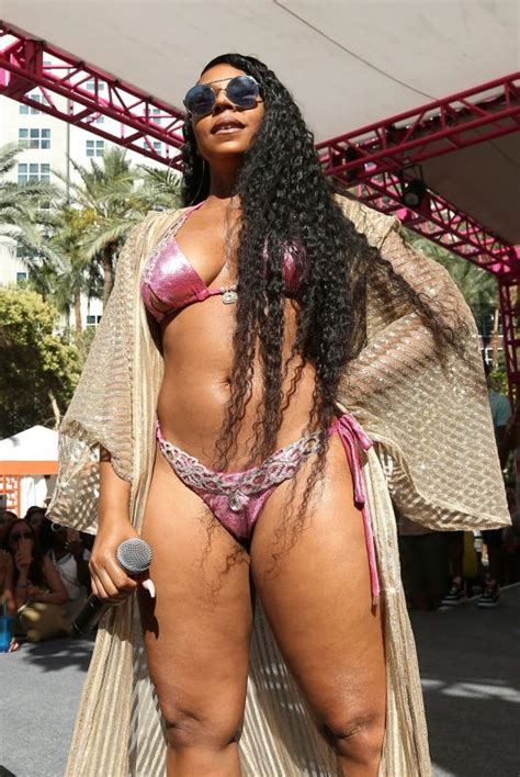 ashanti  bikini perform  flamingo  pool dayclub