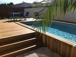 Mini Piscine Enterrée : am nager une piscine hors sol une piscine la maison ~ Preciouscoupons.com Idées de Décoration