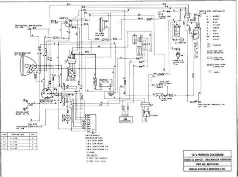 enfield bullet 350 wiring diagram wiring diagram and