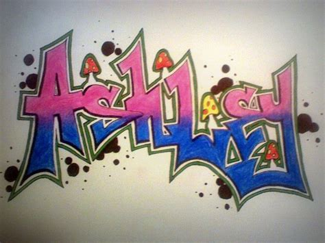 How To Draw Ashley In Graffiti