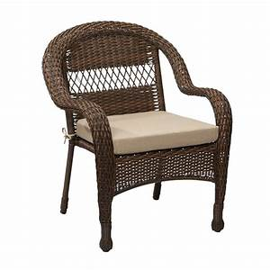 hampton bay mix and match brown wicker outdoor stack chair With home depot hampton bay wicker furniture