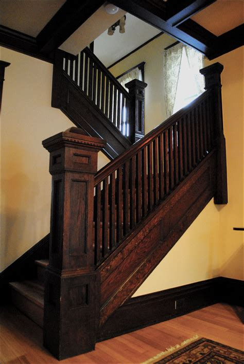 craftsman staircase   antique home style colle flickr