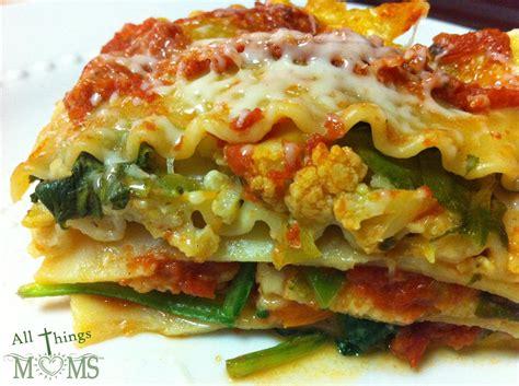 roasted vegetable lasagna   moms