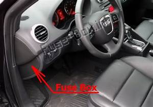 Fuse Box Diagram Audi A3    S3  8p  2008