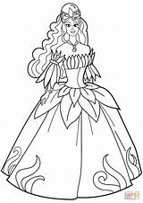 Coloring Pages Princess Flower Printable Fancy Dresses Drawing Sheets Disney Belle Paper Colors Colorings sketch template