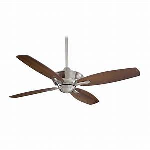 Ceiling fan without light in brushed nickel finish f