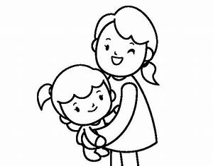 Free Coloring Pages Of Child Hug Mother
