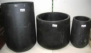 Pot Grande Taille : 3 cache pots de grande taille en plastique noir ~ Teatrodelosmanantiales.com Idées de Décoration