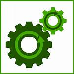 Icon Clipart Gear Subros Eco Abb Recyling