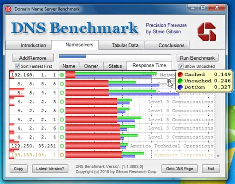 dns benchmark local  remote dns nameserver performance