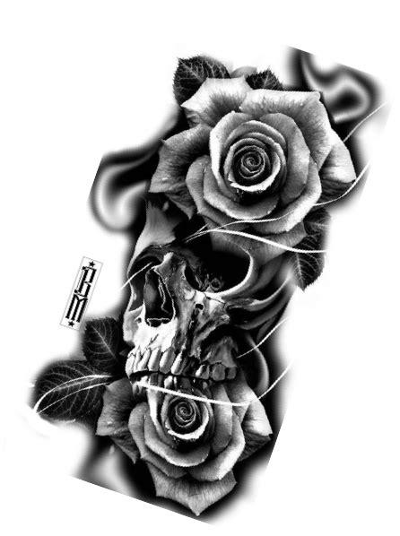 #TattooIdeasHombre | Skull rose tattoos, Tattoo designs