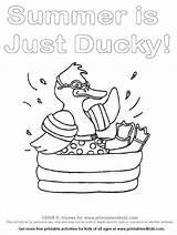 Swimming Pool Coloring Duck Pages Printable Drawing Splashing Summer Printables4kids 2008 Activities Printables Getdrawings Worksheets Word Preschool Math sketch template
