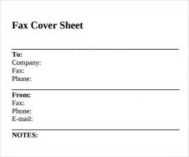 Sample Fax Cover Sheet Printable