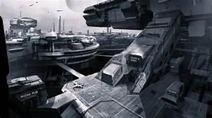 STAR CITIZEN Sci Fi Spaceship Game City Gr Wallpaper