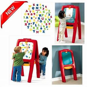 chalkboard easel magnetic letters numbers kids learn With step2 easel for two with bonus magnetic letters numbers