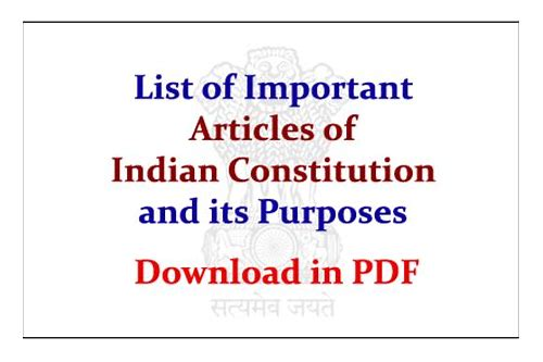 download articles of indian constitution