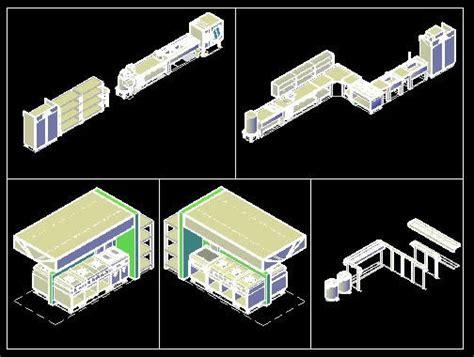 layout design   commercial kitchen dwg block