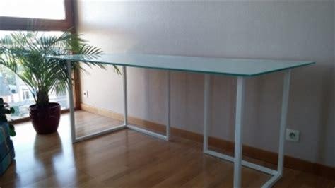 bureau en verre a vendre bureau habitat tréteaux plateau en verre vendre com