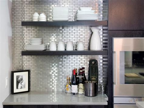 metal tiles for kitchen backsplash stainless steel tile backsplashes hgtv 9155