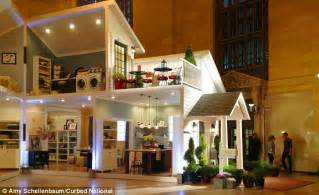 Round Dining Room Tables Target by Life Size Dollhouse Inside New York S Grand Central Train