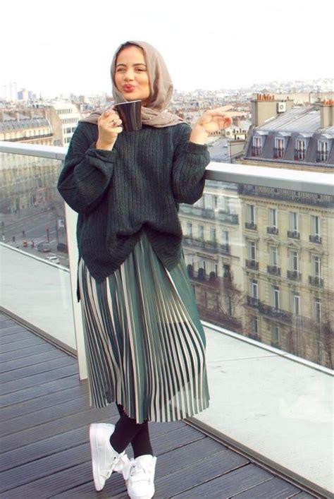 chic ways  style pleated skirt  hijab hijab stylecom