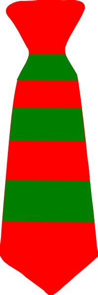 christmas neck tie striped green  red clip art  clker