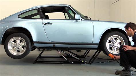 QuickJack Portable Car Lift Demo with a Porsche 911   YouTube