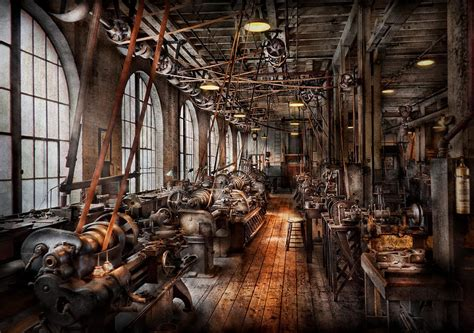machinist  fully functioning machine shop photograph