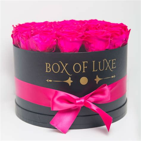 preserved flowers box of luxe eternity roses lasts 6 months to 1 year