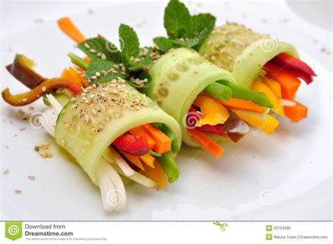 cuisine concept food recipe with cucumber pepper and carrot