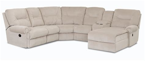 Sectional Sofas Reclining by Klaussner Roadster Traditional Reclining Sectional Sofa