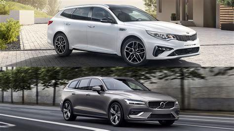 Visual Comparison 2019 Volvo V60 Wagon Vs 2019 Kia Optima