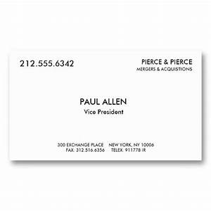 Paul allen39s card for Paul allen business card template