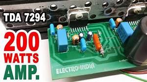 200 Watts Audio Amplifier Board Diy Tda 7294 Ic   Hindi Electronics   Electroindia