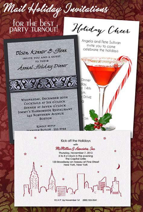 corporate christmas party invitations show  care
