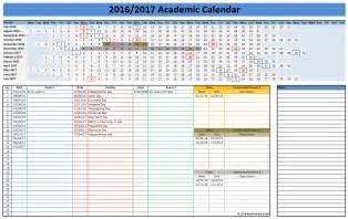 Academic School Calendar 2016 2017