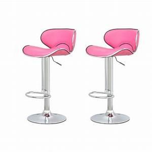 Tabouret De Bar Rose : tabouret de bar rose x2 elite achat vente tabouret de bar pvc acier chrom cdiscount ~ Teatrodelosmanantiales.com Idées de Décoration