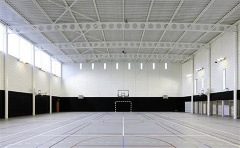 light weight steel solutions   sports hall  marne